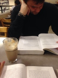 Studying in a coffee shop // Do All Things With Love