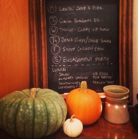 Chalk Menu Board. Happy October! // Do All Things With Love
