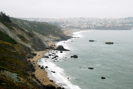 Baker Beach from the Golden Gate Bridge