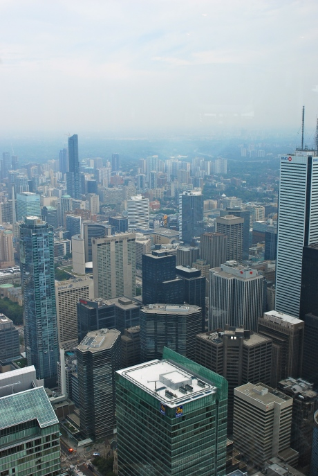 View from the CN Tower overlooking Toronto
