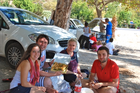 Piknik (picnic) lunch on the road to Anamur