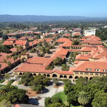 The Main Stanford Quad from Hoover Tower