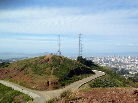 Twin Peaks above San Francisco