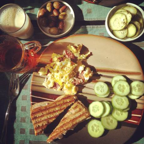 Sunny Saturday breakfast