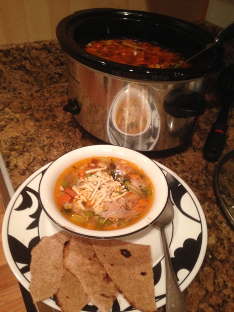 Chicken Veggie Slow Cooker Soup // Do All Things With Love